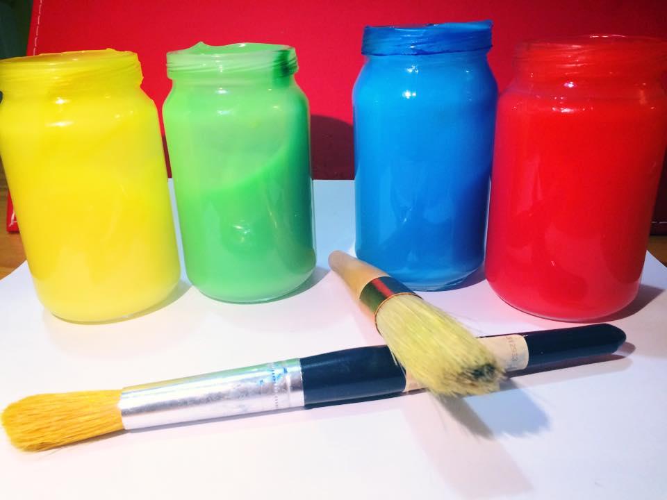 slow cooker finger paints non toxic. Black Bedroom Furniture Sets. Home Design Ideas